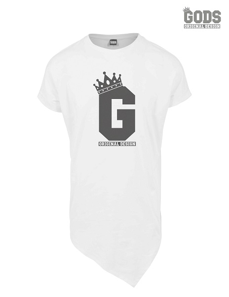 long tee white front G